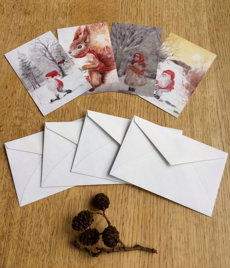 Christmas gift tags: Say Merry Christmas with nordic, scandinavian style gift tags. Gnome, nisse, tomte, squirrel, art, holidays, woodland. by ArtLisbethThygesen on Etsy