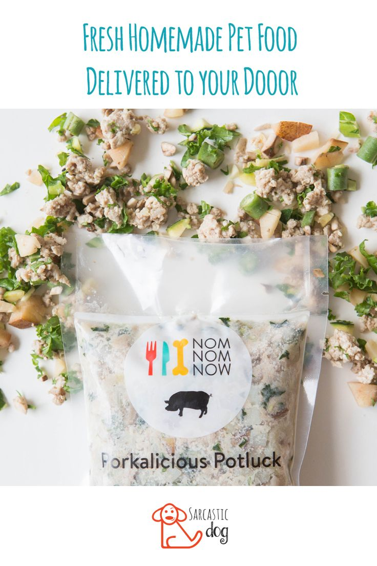 Fresh pet food delivery service, NomNomNow reviewed by Sarcastic Dog. Free delivery. Customized meal plans. Fresh human grade dog food