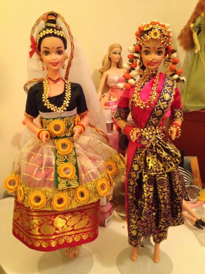 Mystical Manipuri Barbie and Swapna Sundari Barbie (Indian market exclusives)