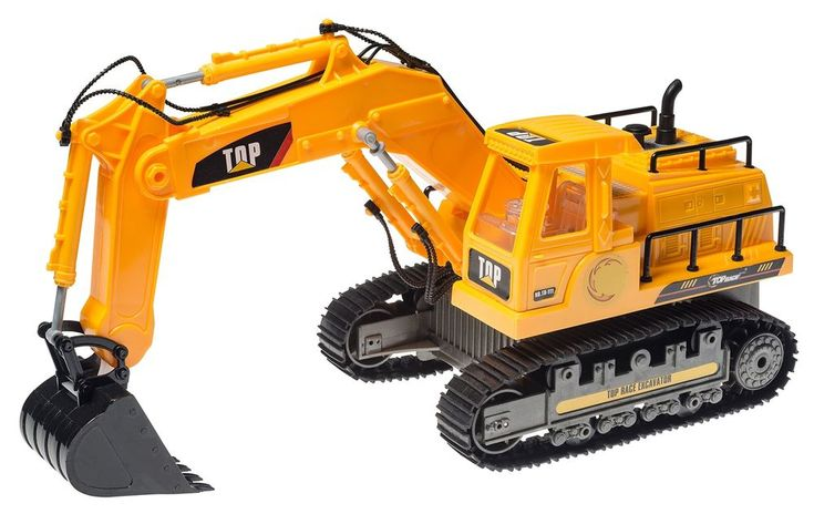 2.4 Ghz Remote Control Excavator Toy Detailed Construction Tractor Lights Sound
