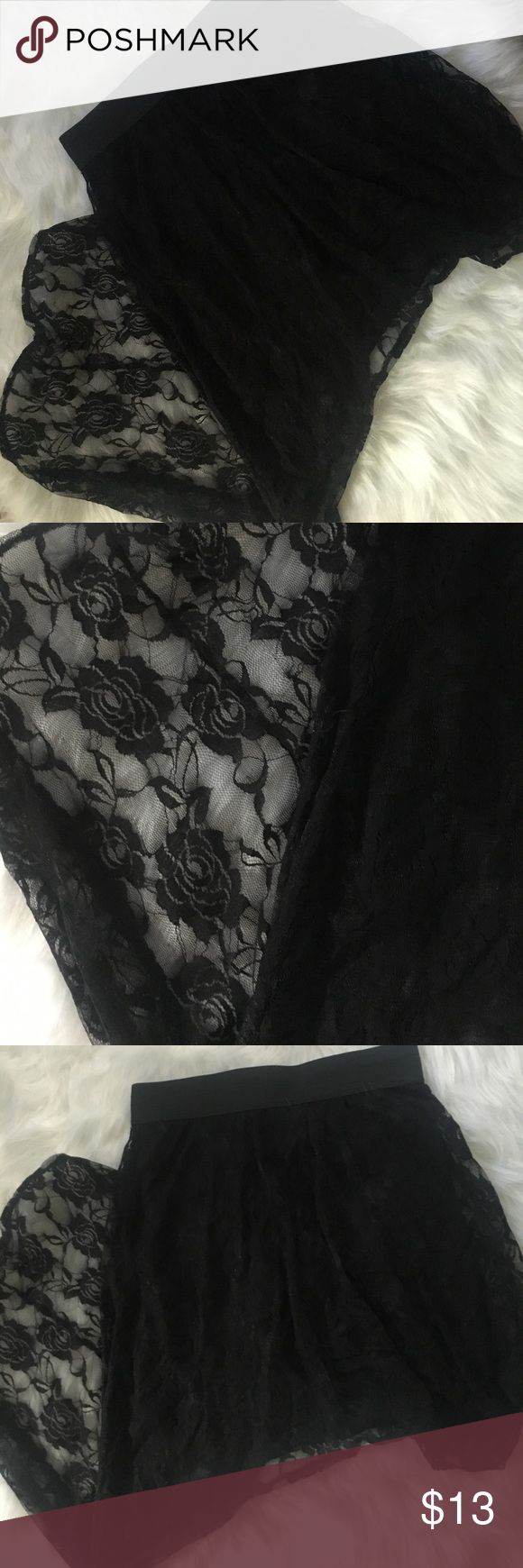 Brand new hi low skirt Brand new hi low lace skirt strechy PacSun Skirts High Low