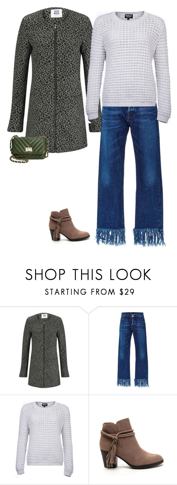 """""""Ready for the season (as I listen to #christmas music)"""" by brooklynbeatz ❤ liked on Polyvore featuring Vero Moda, 3x1, Barbour International, Steve Madden, fringe, animalprint, tassel and outfitonly"""