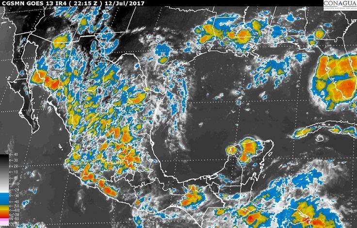 Para hoy, miércoles, se pronostican tormentas muy fuertes en zonas de Chihuahua, Sinaloa, Durango, Zacatecas, Aguascalientes, Guanajuato, Nayarit, Jalisco, Michoacán, Guerrero, Oaxaca, Chiapas, Veracruz, Puebla y del Estado de México ...