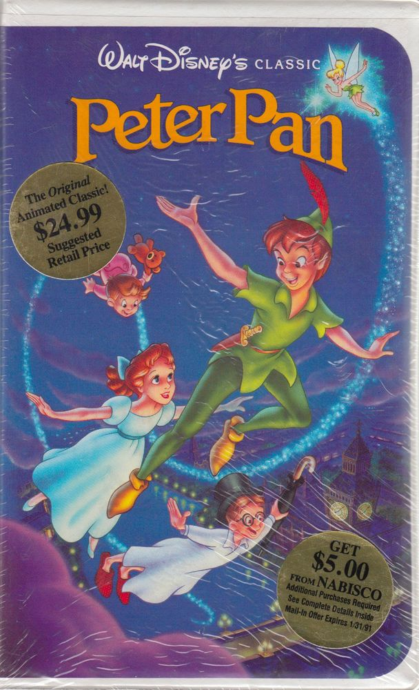 Disney's Peter Pan Original VHS Release NEW SEALED (VHS, 1990)