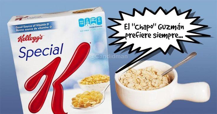 """""""El #ChapoGuzman prefiere siempre""""... @candidman #Frases #Humor #SpecialK"""