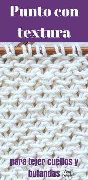 Ponto fácil com textura para lenços e pescoços duas agulhas