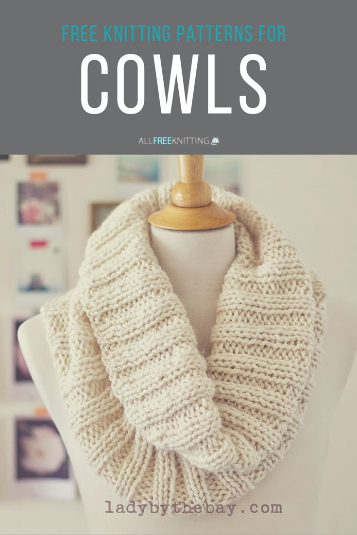 Free knit cowl patterns - omg!                                                                                                                                                                                 More