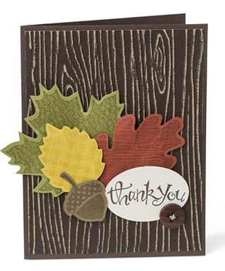 Stampin' Up! Fall Thank You Card  Josee Smuck-Stampin' Up! Canada Demonstrator Thursday, October 18th, 2012 Wonderfall & Autumn Accents