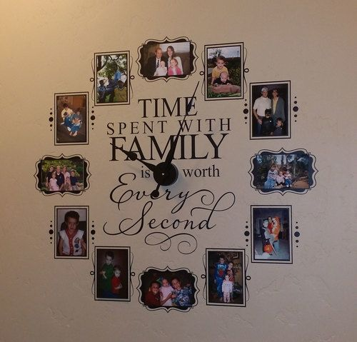 CL205 Family Photo Clock Save $15 by using PHOTO when you checkout (Expires 12/31/2015)  See us on Facebook for more specials www.facebook.com/vinyl4decor