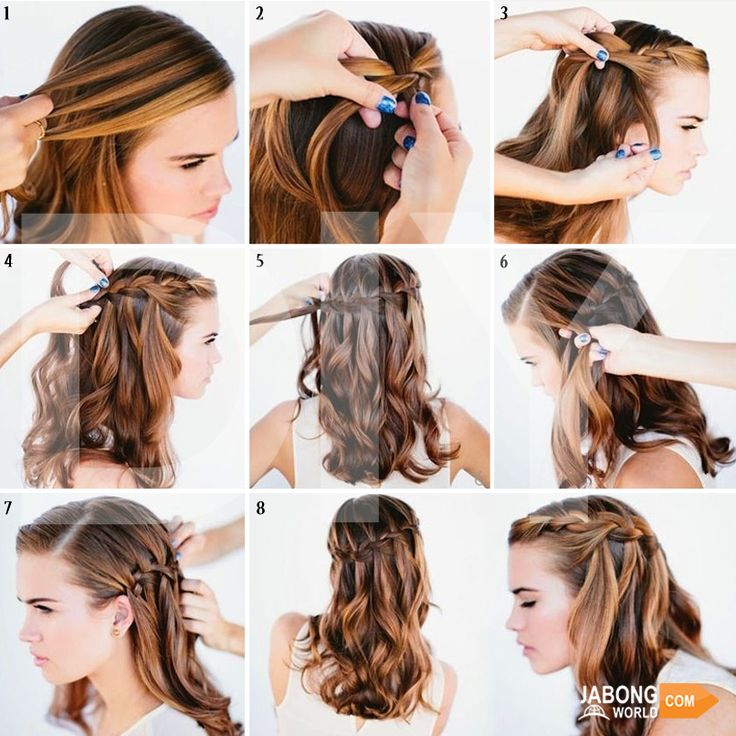 The Waterfall #Braid! It's definitely worth trying. Isn't it? :D #Fashion #DIY #Hairstyles
