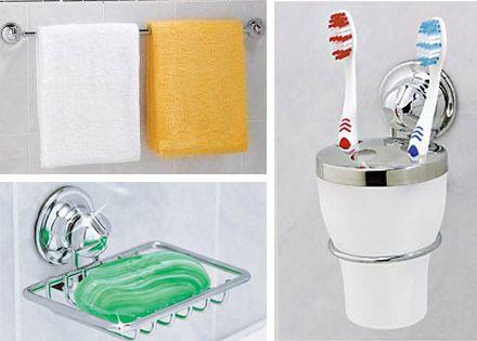 Rozsdamentes acél fürdőszobai, konyhai tartók