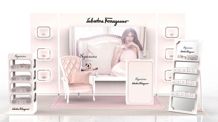 perfume boutique pink girl luxury fashion signorina mostrador completo sotano studio
