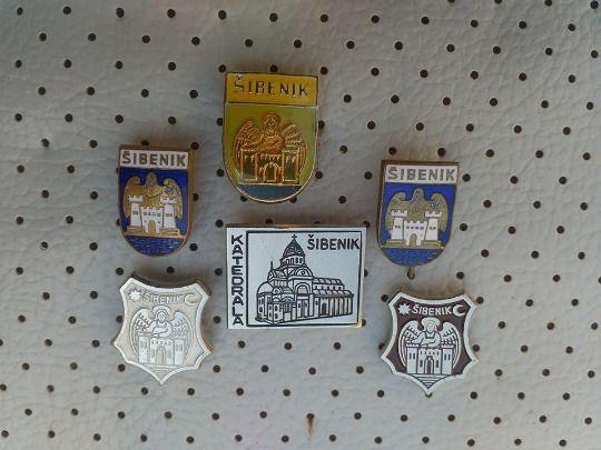 d8a8ad2d1839 Sibenik Croatia Dalmatia Vintage Badges Collection Sibenik Hrvatska City  Crests