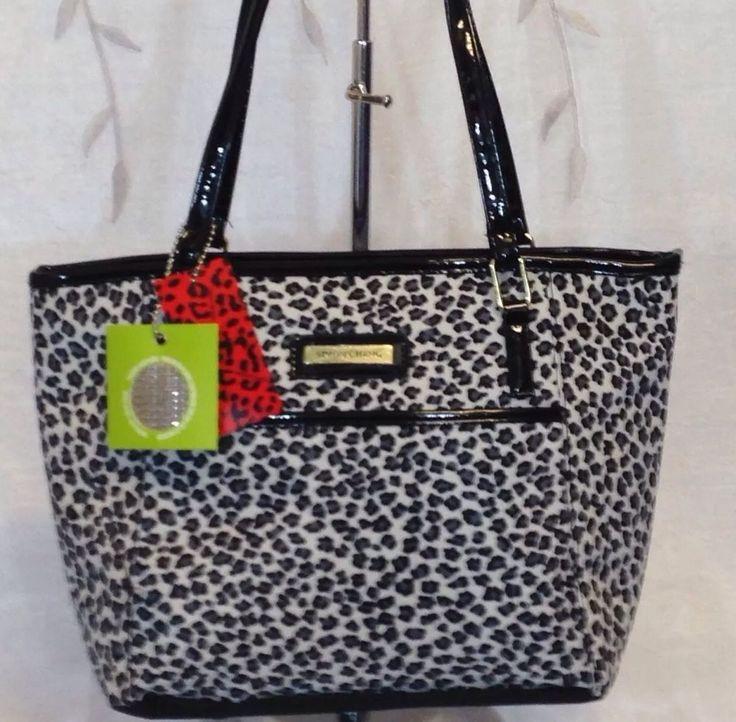 Lunch Bag Insulated Box Handbag Tote For Woman Cheetah, black/ white NWT