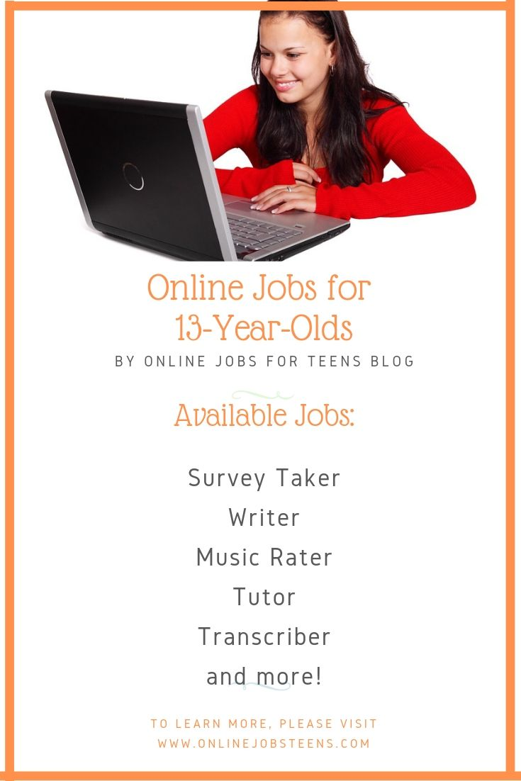 Online Jobs For 13 Year Olds Jobs For Teens Online Jobs For Teens Online Jobs