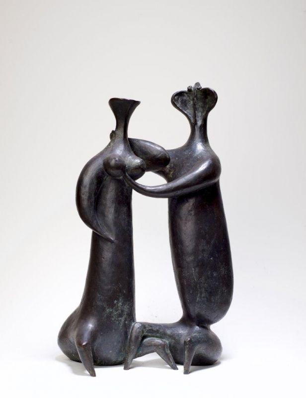Sem Titulo 169)27 Casal 1957 Bronze 36cm x 23cm x 13cm #JorgeVieira #sculpture #SaoMamede #art #drawings #visit #lisbon #gallery