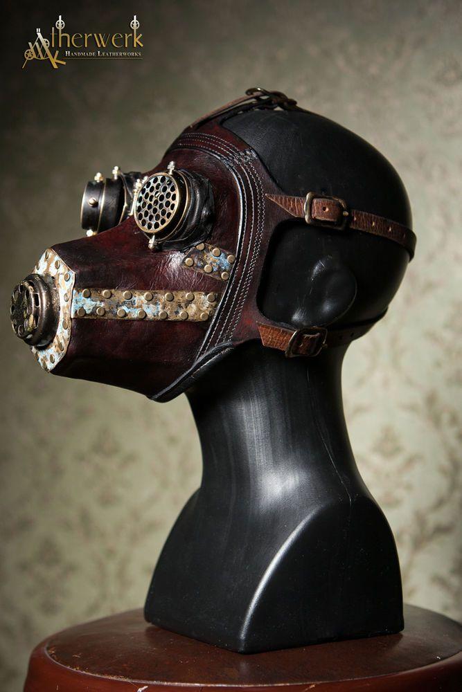 Steampunk / Viktorianische / Gothic Gasmaske,  Leder, WGT