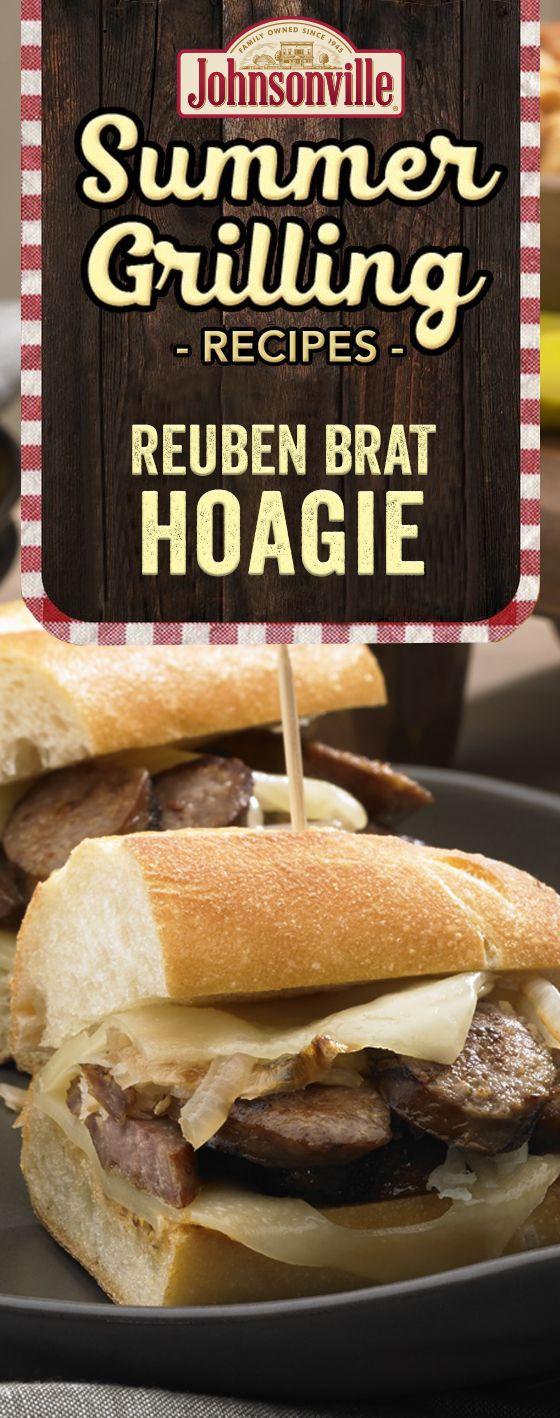 Kick up the cook out fun with a twist on the traditional Reuben hoagie by adding some Johnsonville brats. Your guests will be grilling you for more!