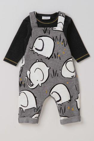 Acheter Salopette grise motif éléphant (0 mois - 2 ans) disponible en ligne dès aujourd'hui sur Next : France