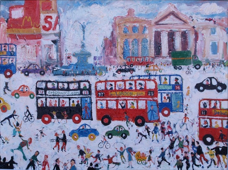 Stafford, Simeon b.1956 British AR Piccadilly Circus, 30 x 40 ins., (76 x 101.5 cms.), Oil on Canvas, Signed, Provenance: Illustrated on page 99 of Simeon Stafford by Jonathan Riley.