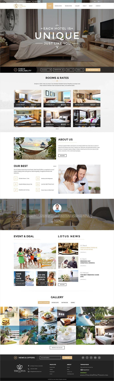 Hotel, #resorts, villas, B&B's or any types of hotel industry website
