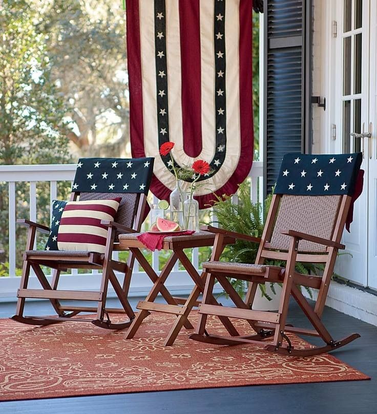 Americana Porch July 4th Pinterest Porch Front