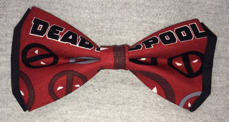 Marvel Comics Deadpool Premium Double Layer Clip-On Bowtie **FREE domestic SHIPPING** by TheRubyPigdotcom on Etsy