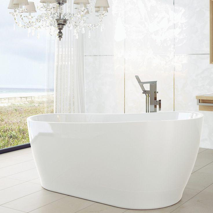 Caroma Blanc freestanding bath to ensuite.