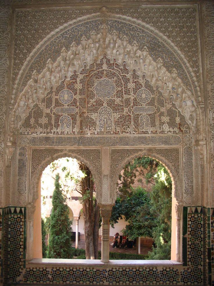 At the Alhambra in Granada, Spain.