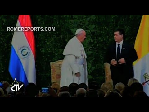 """Papa en Paraguay: """"Madres, esposas y viudas han sabido sacar adelante al país  ENCUENTRO CON LAS AUTORIDADES Y CON EL CUERPO DIPLOMÁTICO  http://w2.vatican.va/content/francesco/es/speeches/2015/july/documents/papa-francesco_20150710_paraguay-autorita.html"""