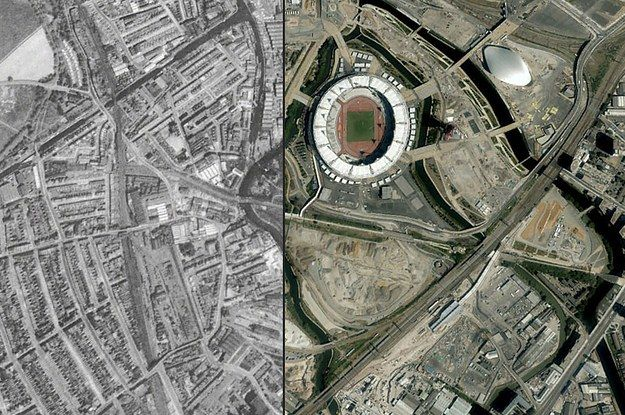 These Amazing Aerial Photos Show How London Looked In 1945 Vs How London Looks Now