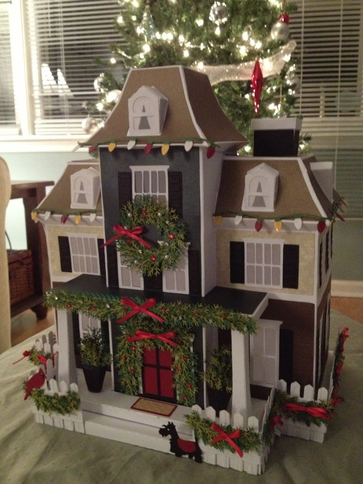 Christmas version of Maple Manor House from SVGcuts.com