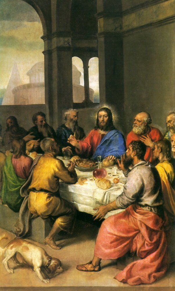 Scriptural Origins// Eucharist was given to us by Jesus at the Last Supper on Holy Thursday.  In full awareness that his death was inevitable, he broke bread and poured wine to symbolize the everlasting sacrifice he made for his people.  Taken down in the New Testament, this is a pivotal part of Jesus' life and shows that he was willing to sacrifice his life for his children.