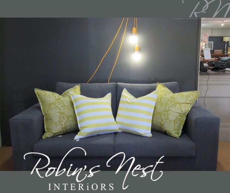 Simplicity, a splash of colour and a strong print is sometimes all that is needed to make a bold and subtle statement in a room. #RobinsNestInteriors #furniture #scatters #interiordesign