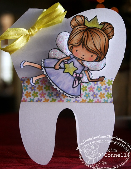 """Paper Perfect Designs by Kim O'Connell: There She Goes Clear Stamps """"Tooth Fairy Approved"""""""
