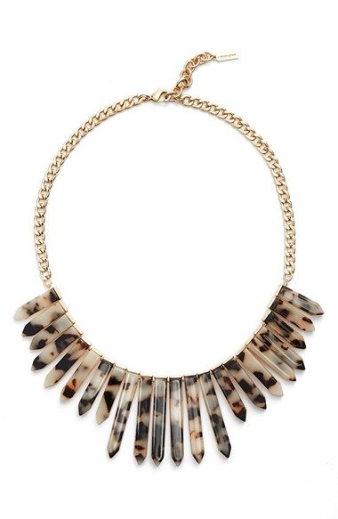 BaubleBar 'Marble Ra' Bib Necklace available at #Nordstrom
