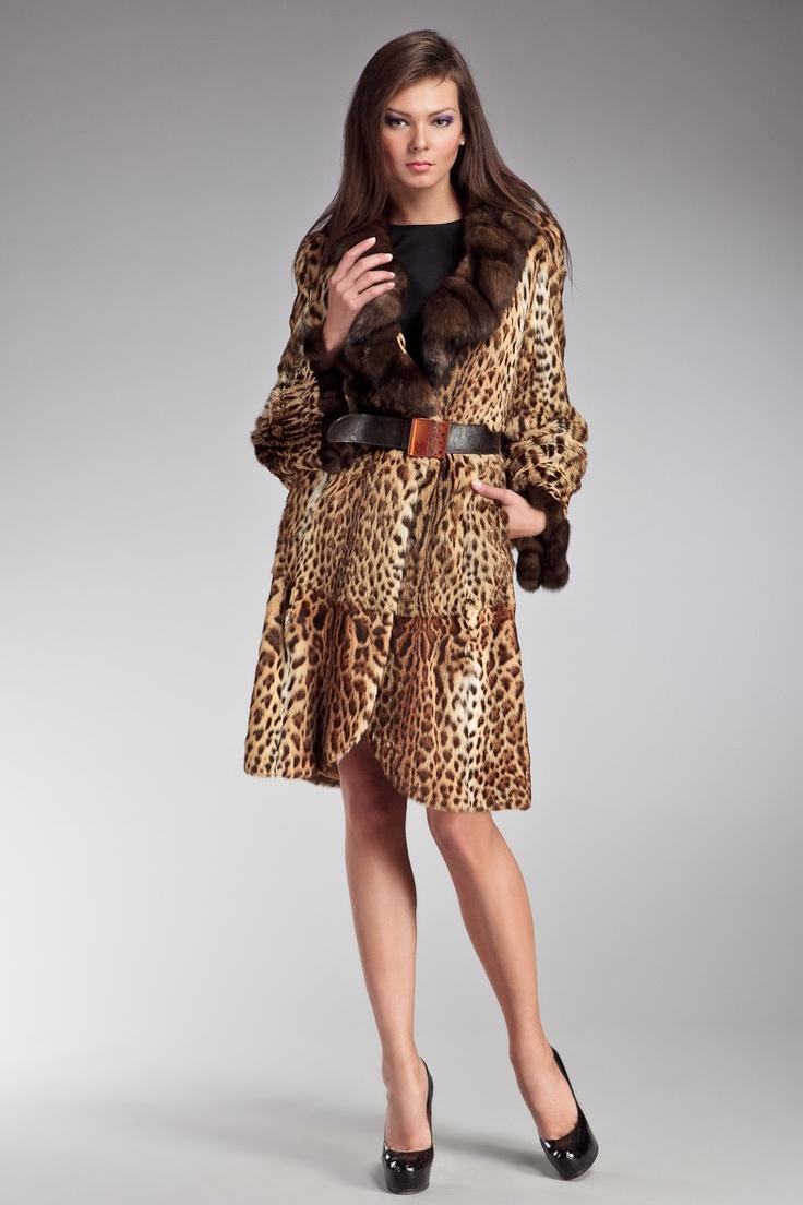 PENELETTA - Меховое пальто+ремень MALA MATI - 390 000.00 руб. - Коллекция: Осень-зима  Материал: 100%мех леопардовый кот/100%мех соболь  Производитель: Италия  Размер: 42-44  Цвет: Разноцветный  Бренд: Италия  Купить