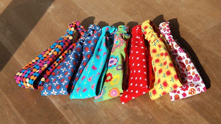 Haarbänder aus Jerseyresten / Hair-bands made from scraps of fabric / Upcycling