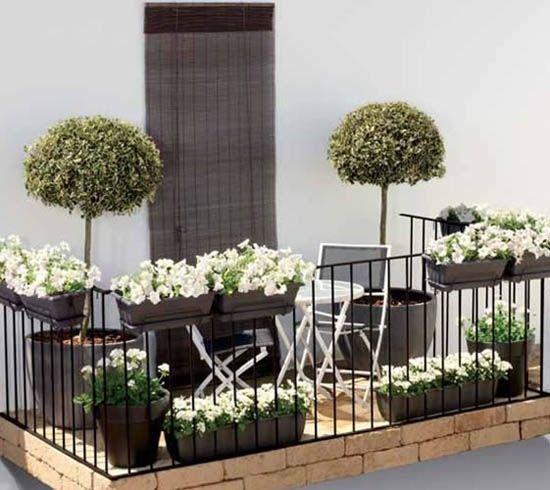Kleiner Balkon-günstig gestalten-Ideen