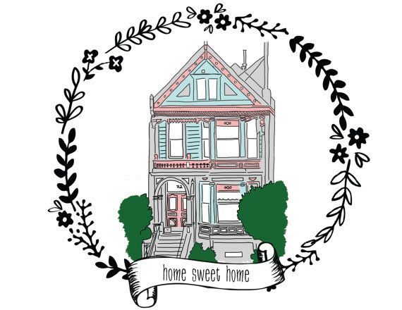 Custom House Portrait - hand drawn illustration of your home - choose size and style - gift for new homeowner - moving announcement!  I should do this.for our first home!