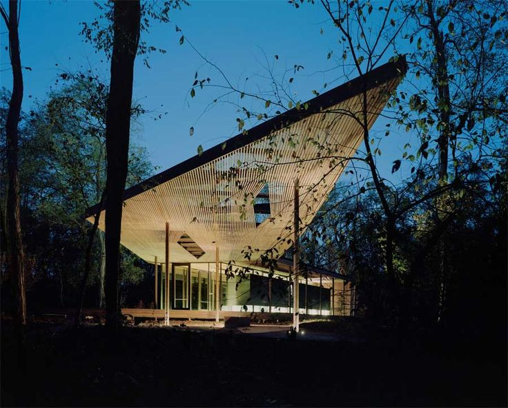Ruth Lilly Visitors Pavilion, Indianapolis, USA Marlon Blackwell Architect,