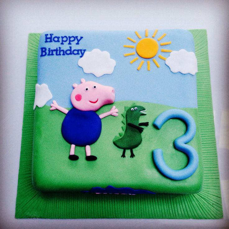 Peppa pig George Cake