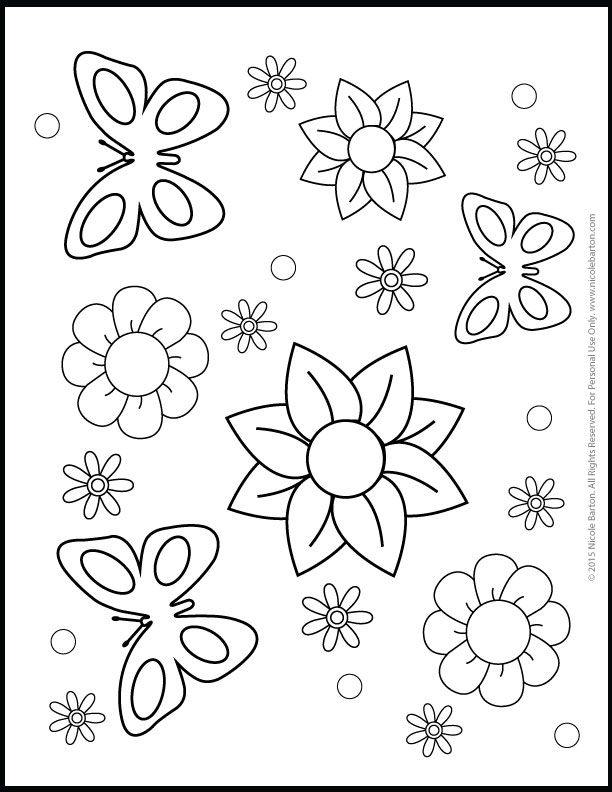 free printable coloring pages for girls wwwnicolebartoncom