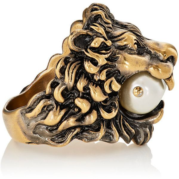 8084a1a32 Gucci Men's Lion Head Ring ($430) ❤ liked on Polyvore featuring men's  fashion,