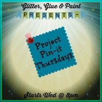 Project Pin-it #39 - Glitter Glue & Paint