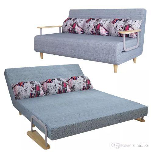 New Folding Sofa Bed Design E Saving Wooden Frame European Style Leather F01d3 197
