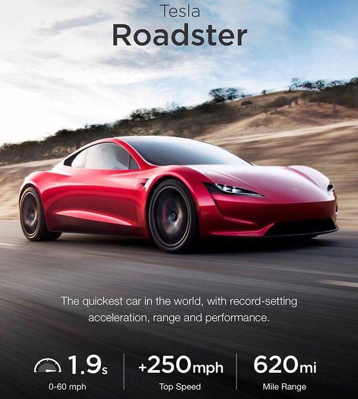 The Tesla Roadster - Game-changer!!! 0-100km/hr in 1.9sec Thank you Elon #legend #earlyadopter #gamechanger #tesla