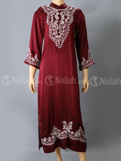 Gamis bordir muslimah IDR 215000 - only at www.nailah.co
