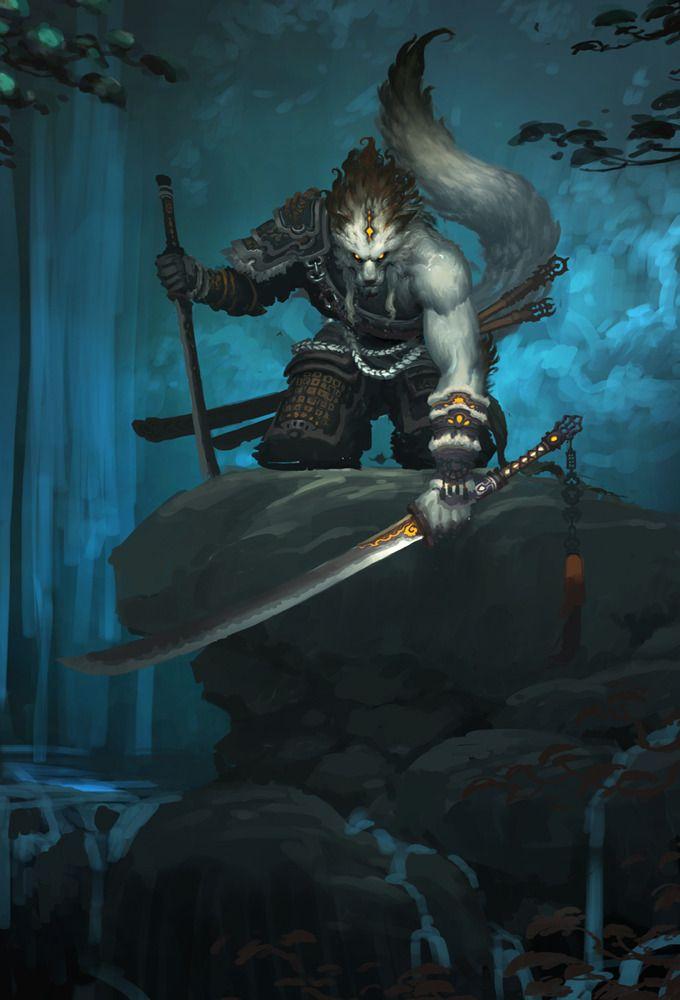 Werewolf with katana
