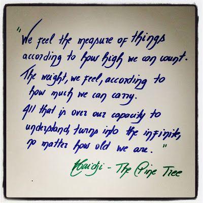 Haidji: Book Quote - The Pine Tree - Haidji - Short Story
